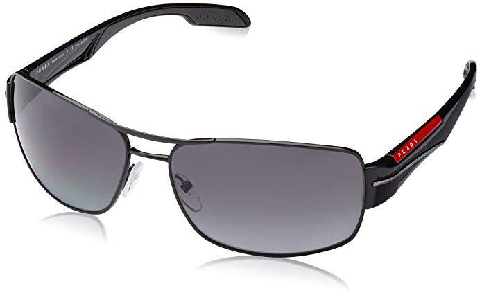 7a8e54b74278 Prada Linea Rossa Men s PS 53NS Sunglasses Black   Polar Grey Gradient 65mm  Review