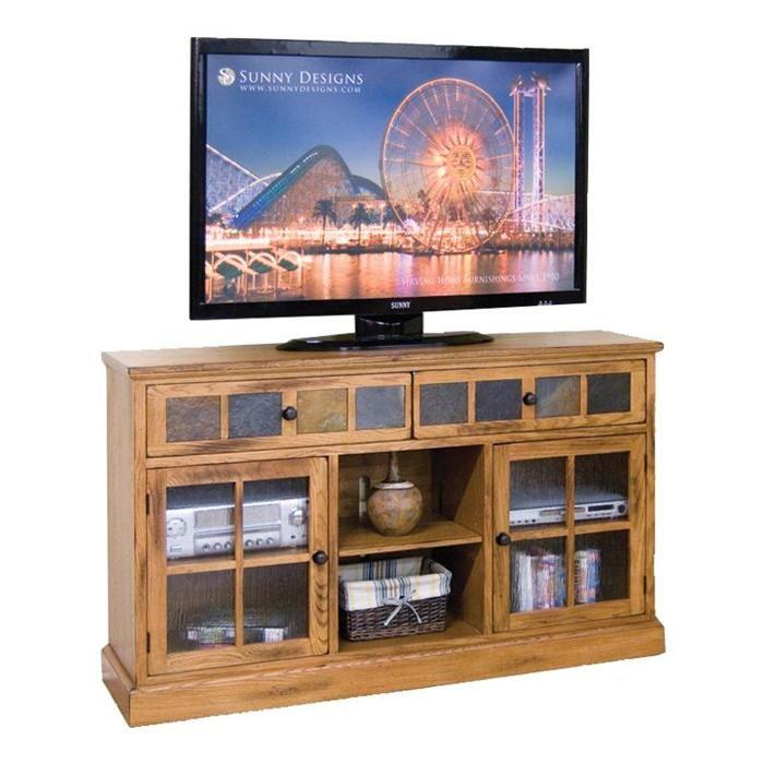 Nebraska Furniture Mart U2013 Sunny Designs Sedona TV Console With Slate Tiles