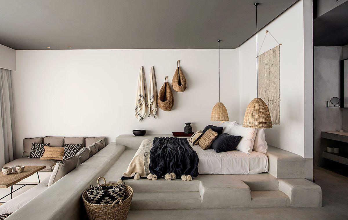 Boho loft bedroom  Espíritu boho chic en Grecia  Ideas   Pinterest  Lofts