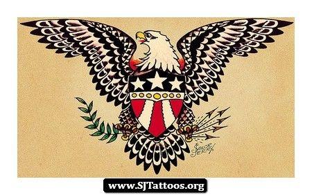 a0a66112e Sailor jerry army tattoo Eagle tattoo Old style | Tatoos | Sailor ...