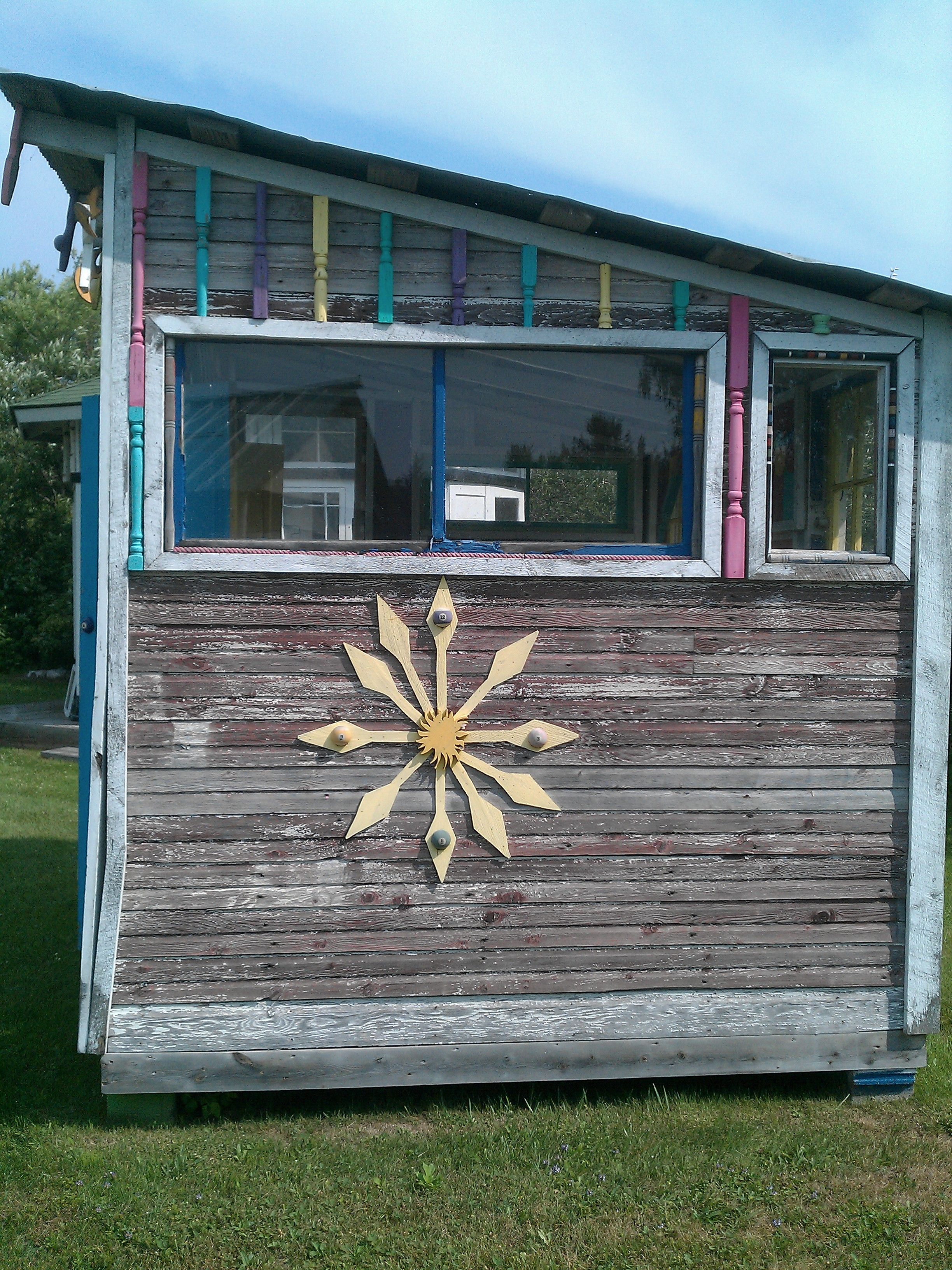 garden house made from salvage by bob thomas at his store monumental finds