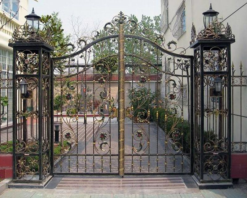 Elaborate Metal Gates To Courtyards Or Front Entrances Can Make A Home Look  Much More Exciting
