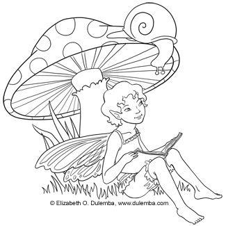Freebie: Fairy Digi Stamp | Fairy, Snail and Digi stamps