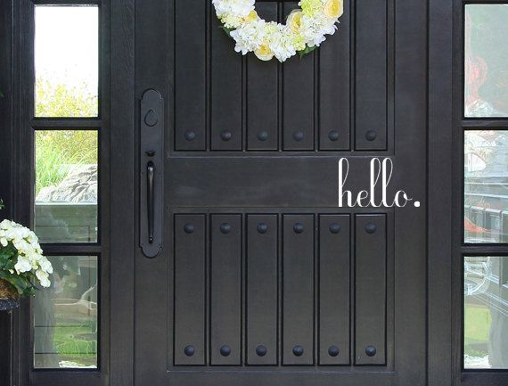 Hello Decal Hello Sticker Front Door Greeting Custom Door Decal Front Door Decals Door Decoration Hello & Hello Decal Hello Sticker Front Door Greeting Custom Door Decal ...