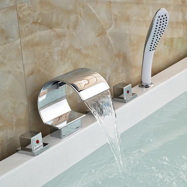 Type Bath Shower Faucets Bahtub Faucet Installation Type Deck