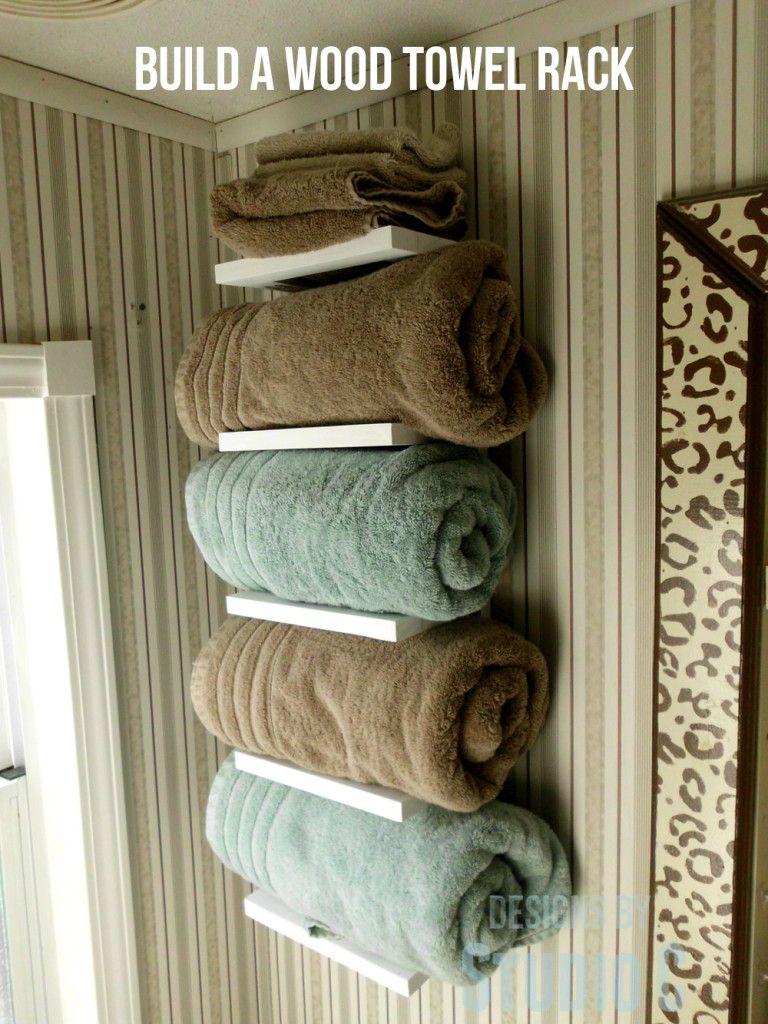 Diy Towel Storage Featuring Designs By Studio C Free Furniture Plans Towel Holder Diy Diy Towels