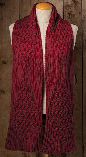 Knitting Pattern for Magic of Reversible Cables Scarf | Small ...