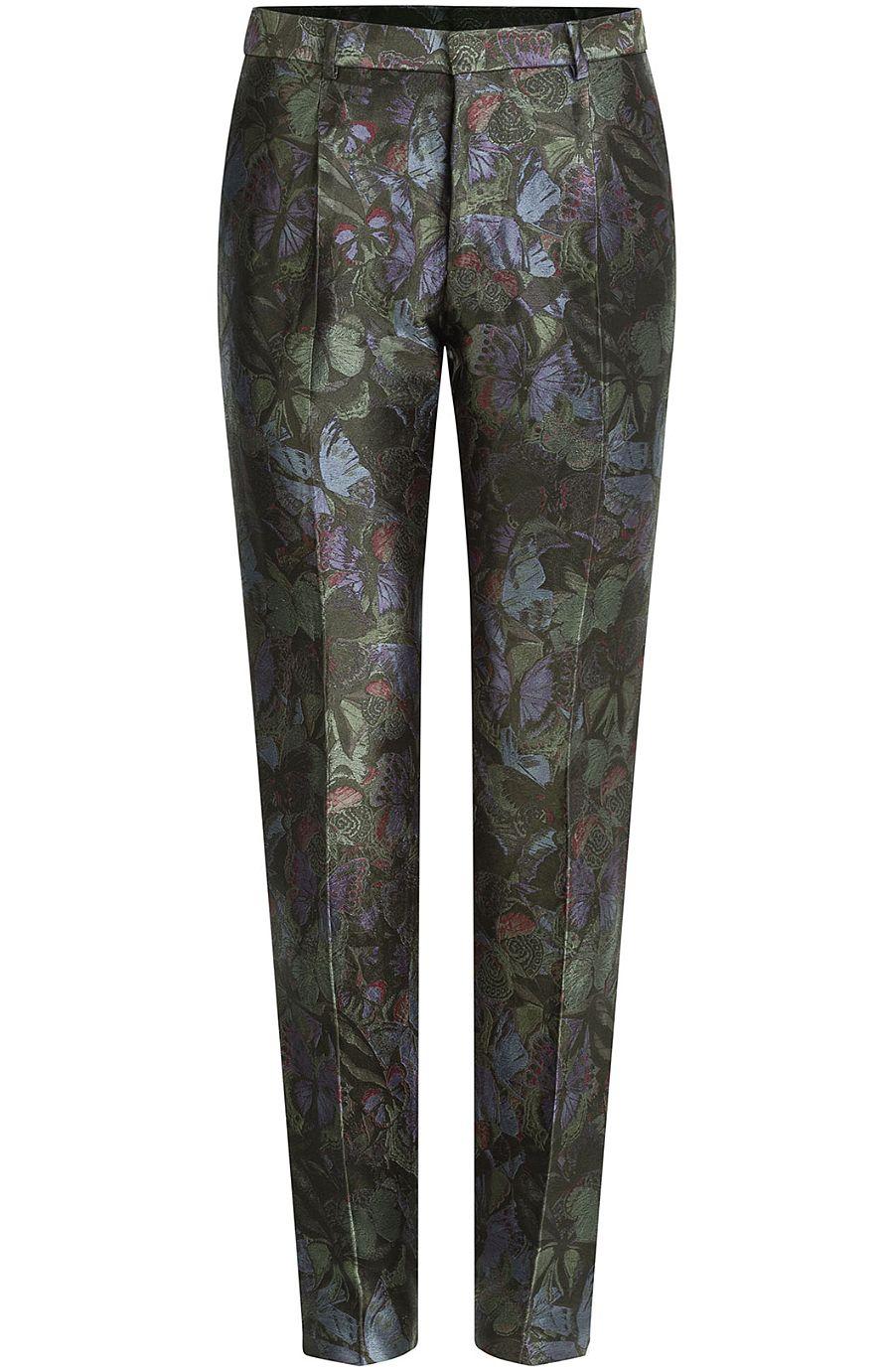 b262a808733d VALENTINO Silk-Blend Printed Trousers.  valentino  cloth  pants ...