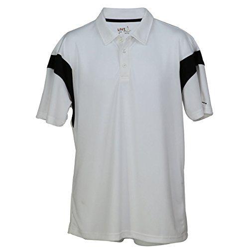 9e07bb2d LOFT GOLF Fairway for Men XLarge Polo Shirt WhiteBlack *** Want to know more
