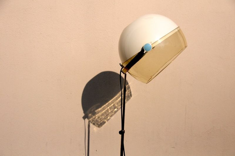 Vintage staande lamp droger kap upcycling led floor lamp een