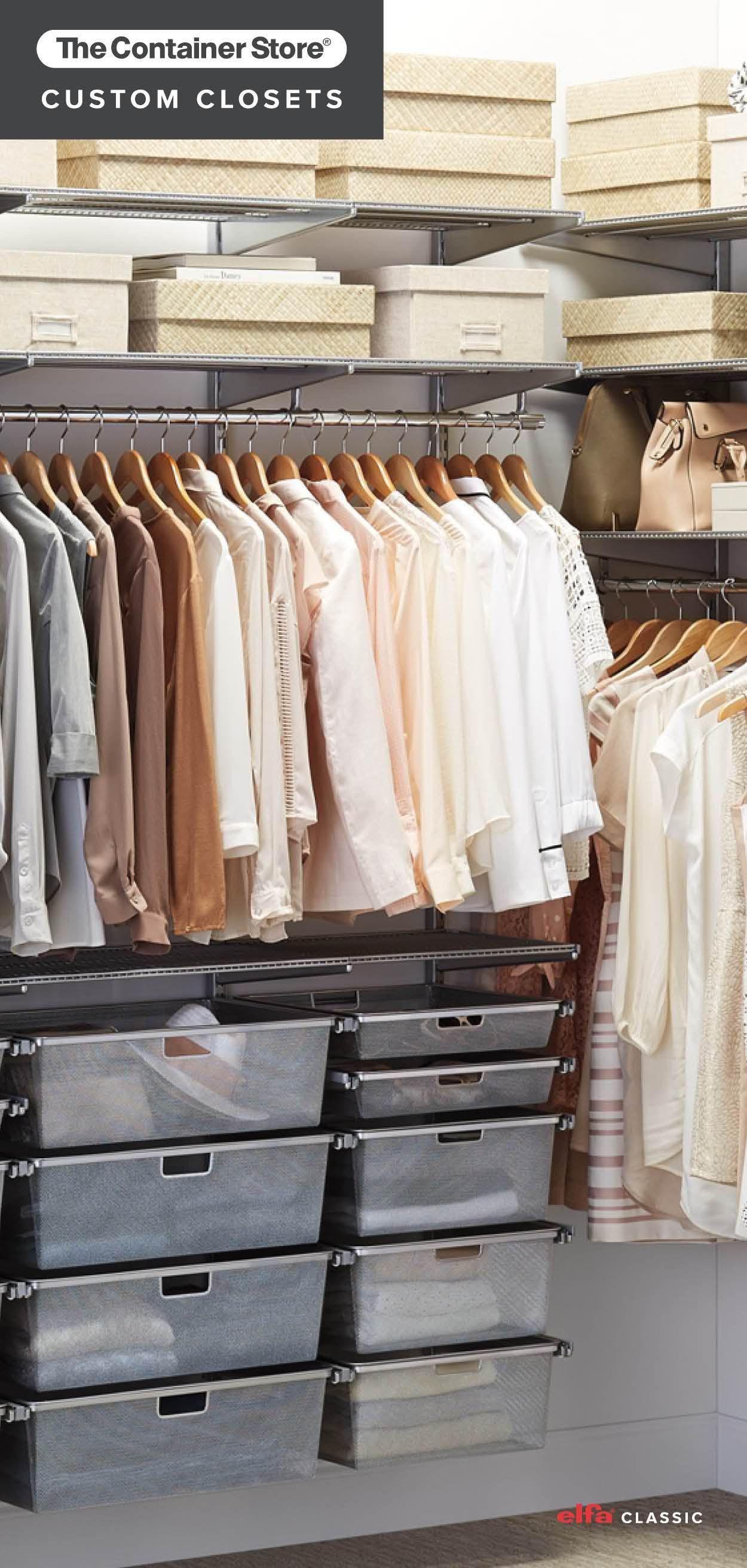 Elfa Classic is the original custom closet system ...