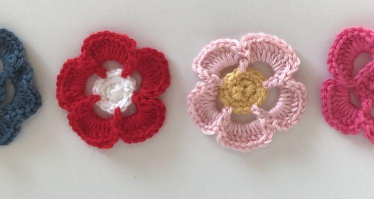 Basic 5 Petal Flower – Stitch Me In | Crochet Patterns | Pinterest ...