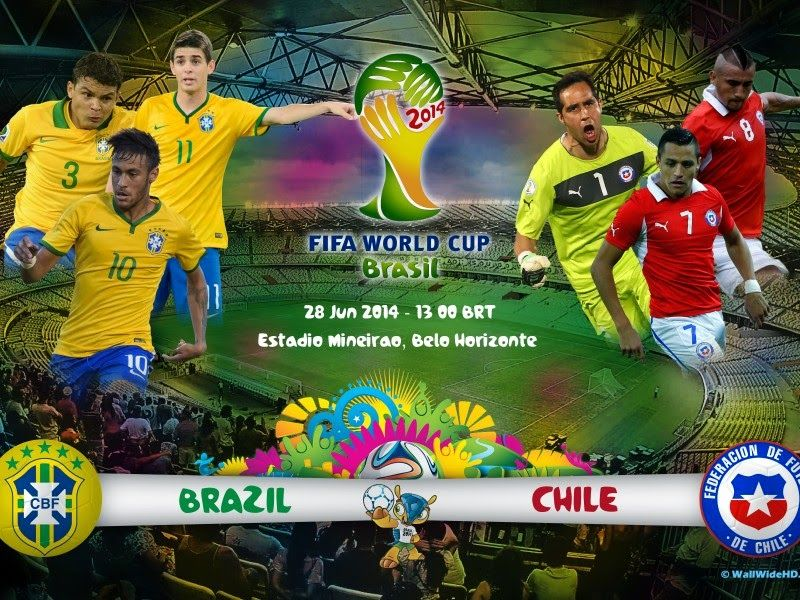 Fifa World Cup Round 16 Live Stream Watch Brazil Vs Chile Live Online Tv Fifa World Cup World Cup World Cup Games