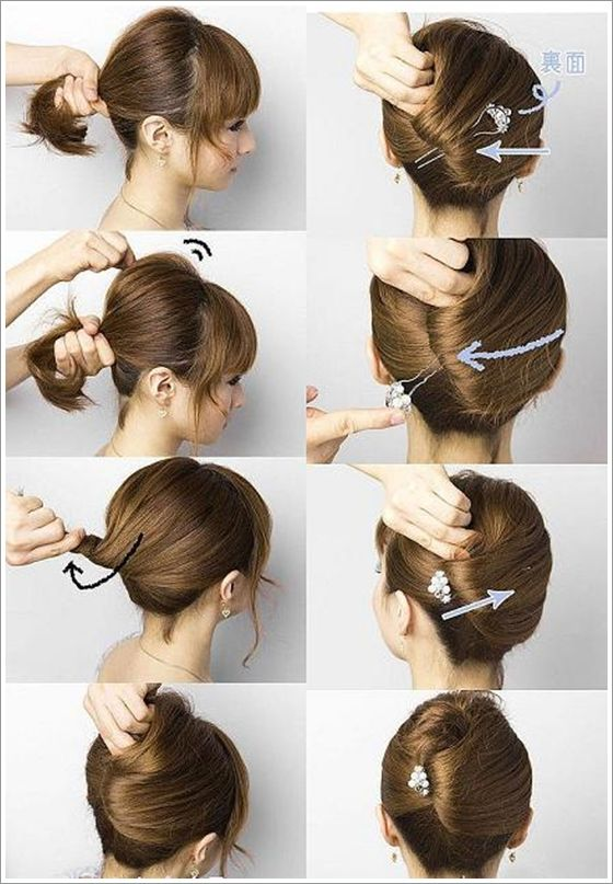 Step By Step Hairstyles For Long Hair Long Hairstyles Ideas Popular Haircuts Thick Hair Styles Short Hair Updo Long Hair Styles