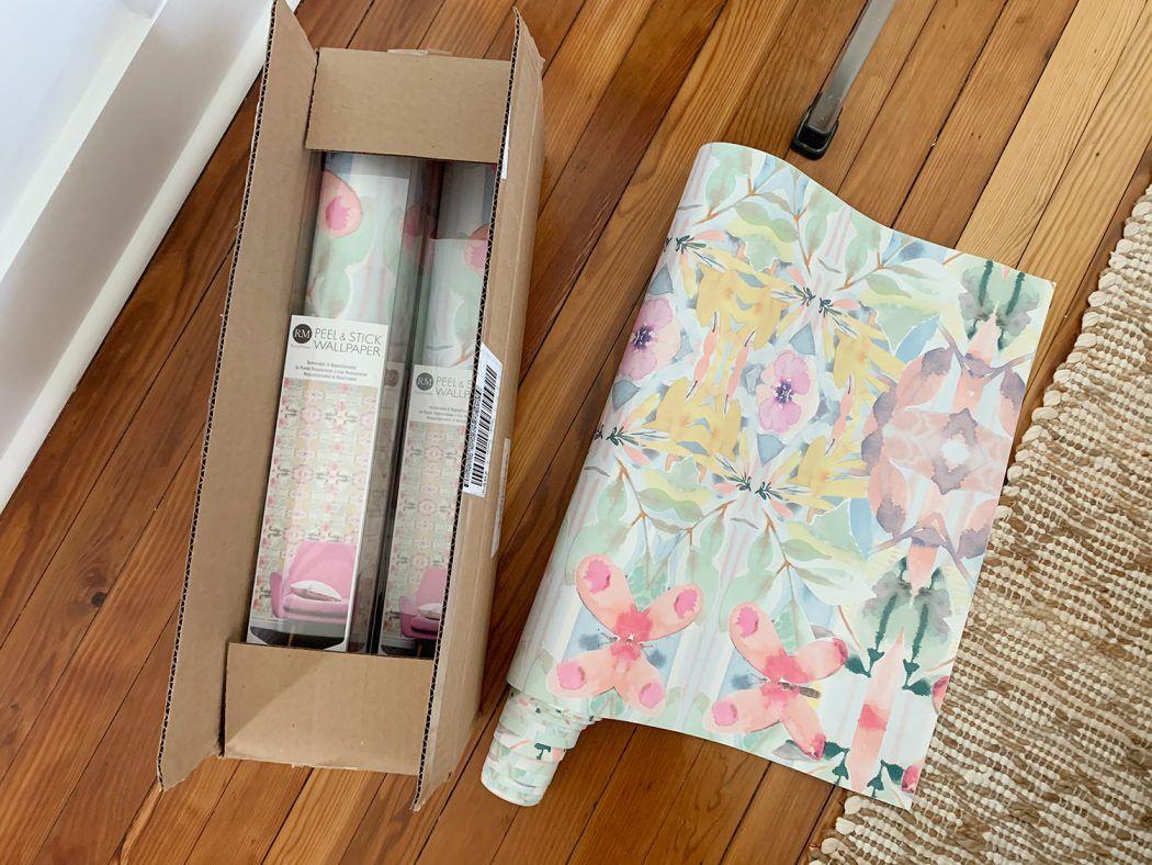 How To Hang Peel Stick Wallpaper On Video Young House Love Peel And Stick Wallpaper Young House Love Wallpaper