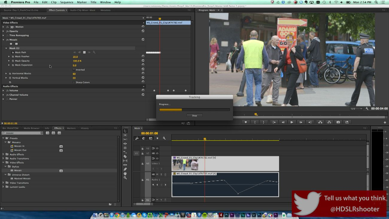 Tracking and Masking in Premiere Pro