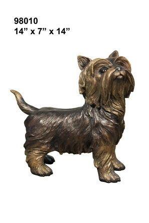 Cast Bronze Terrier Dog Statue
