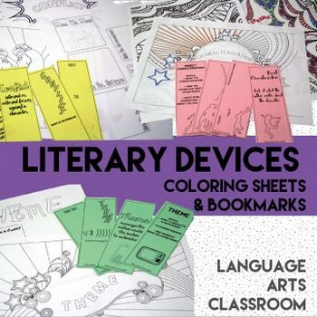 Literary Devices Coloring Sheets | ELA Literature ...