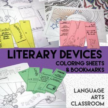 Literary Devices Coloring Sheets | ELA Literature ...