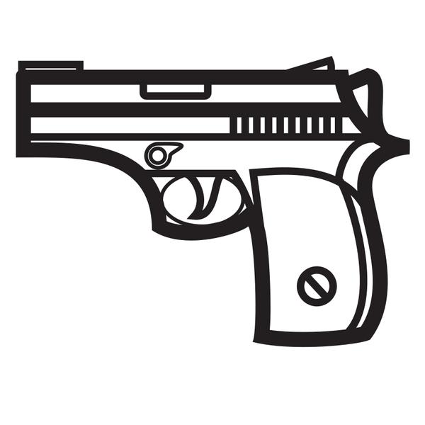 Handgun Silhouette Clip Art Silhouette Clip Art Hand Guns Silhouette