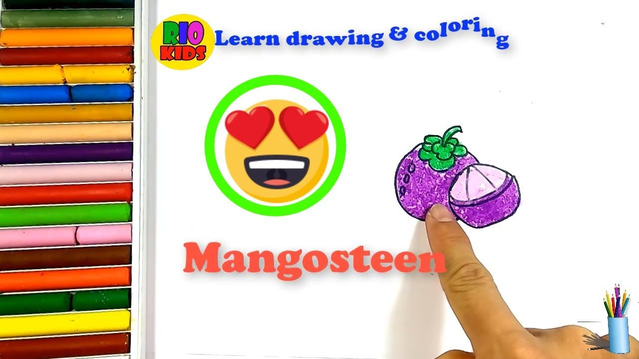 Draw And Color Mangosteen How To Teach Baby English Rio Kids