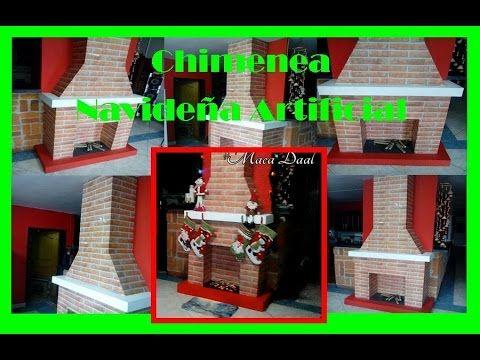 Pasos Para Hacer-Chimenea Navideña Decorativa Artificial - YouTube