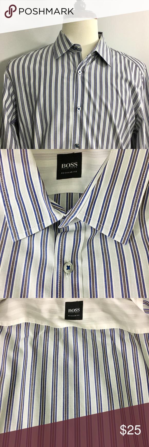 Hugo Boss Mens Dress Shirt Size Large Hugo Boss Men Boss Shirts