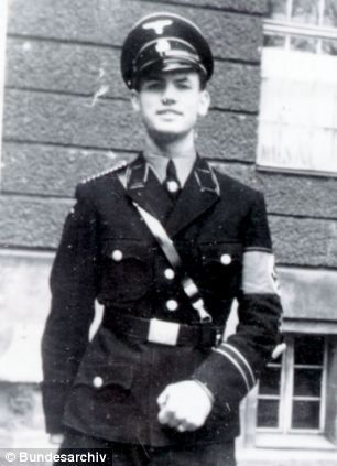 Erich Priebke in his Nazi SS officer's uniform during the Second World War