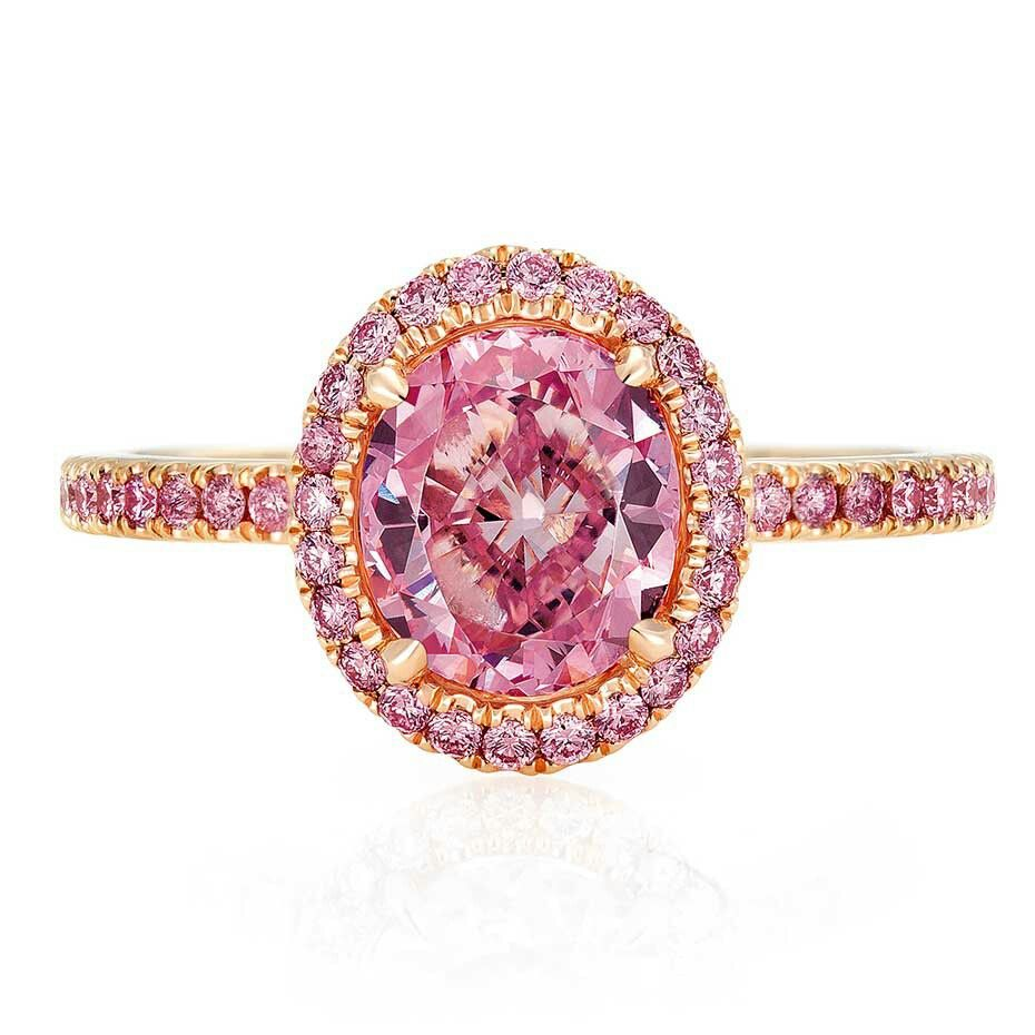 Pink diamonds in rose gold by de beers itus too too lovely art