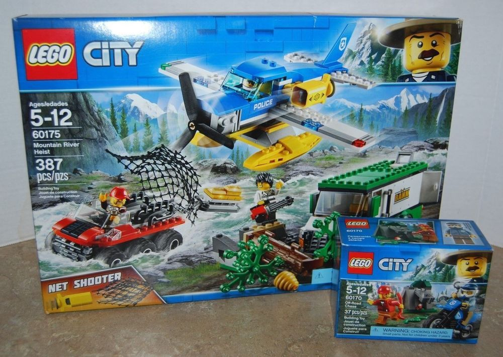 New LEGO City 60175 Mountain River Heist & 60170 Off Road ...