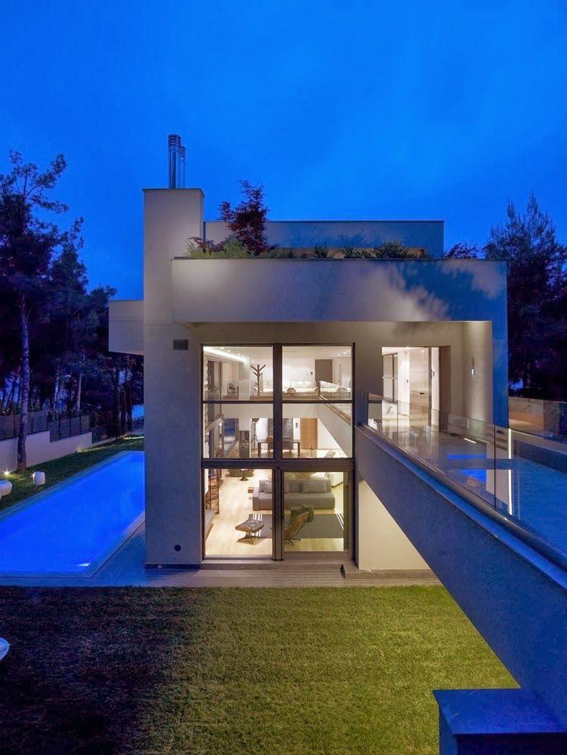 Modern Mansion in Dionysos by Nikos Koukourakis and Associates http://archiadore.com/modern-mansion-in-dionysos-by-nikos-koukourakis-and-associates/