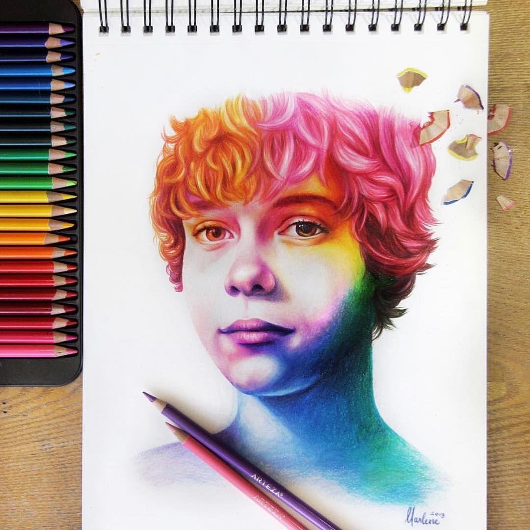 Solorful Portraits Painting Colorful Portrait Color Pencil Art Colored Pencil Set