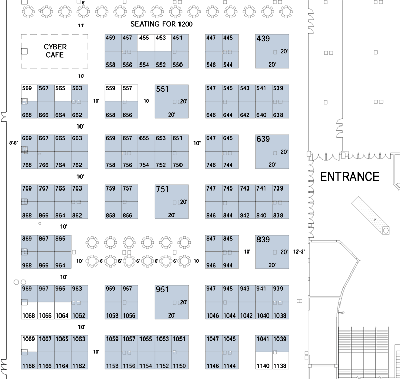 Floor plan for the gea trade show grc 39 s 38th annual for Trade show floor plan