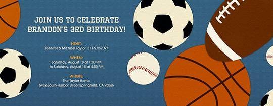 Sports Balls Invitation