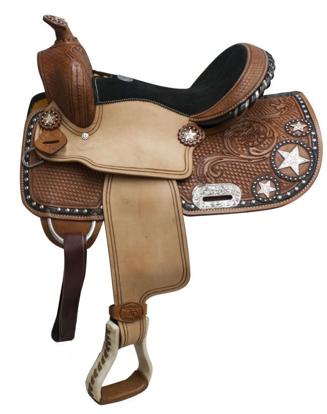 Double T Youth Barrel Saddle Stars 13in 512813 Barrel