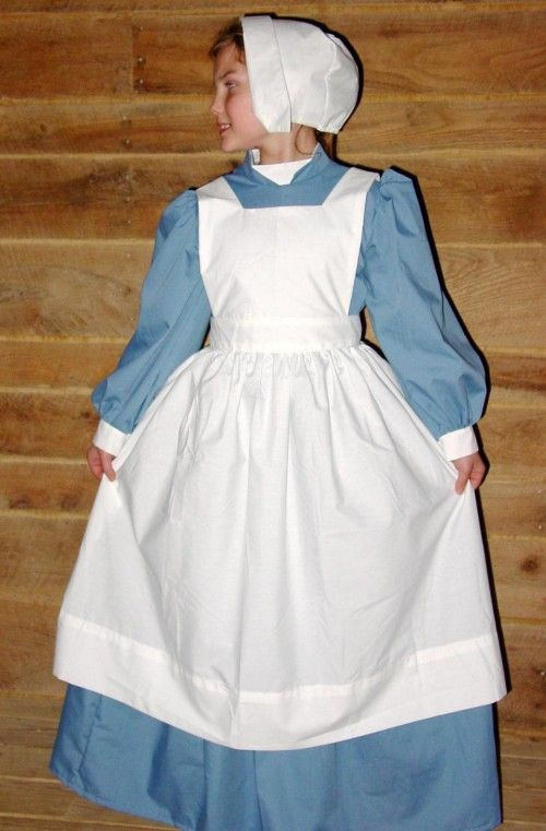 133864a4a7754 Historical Pioneer Costume Clara Barton Nightingale -Dusty Blue Civil War  Nurse- Child Sizes Up To 14