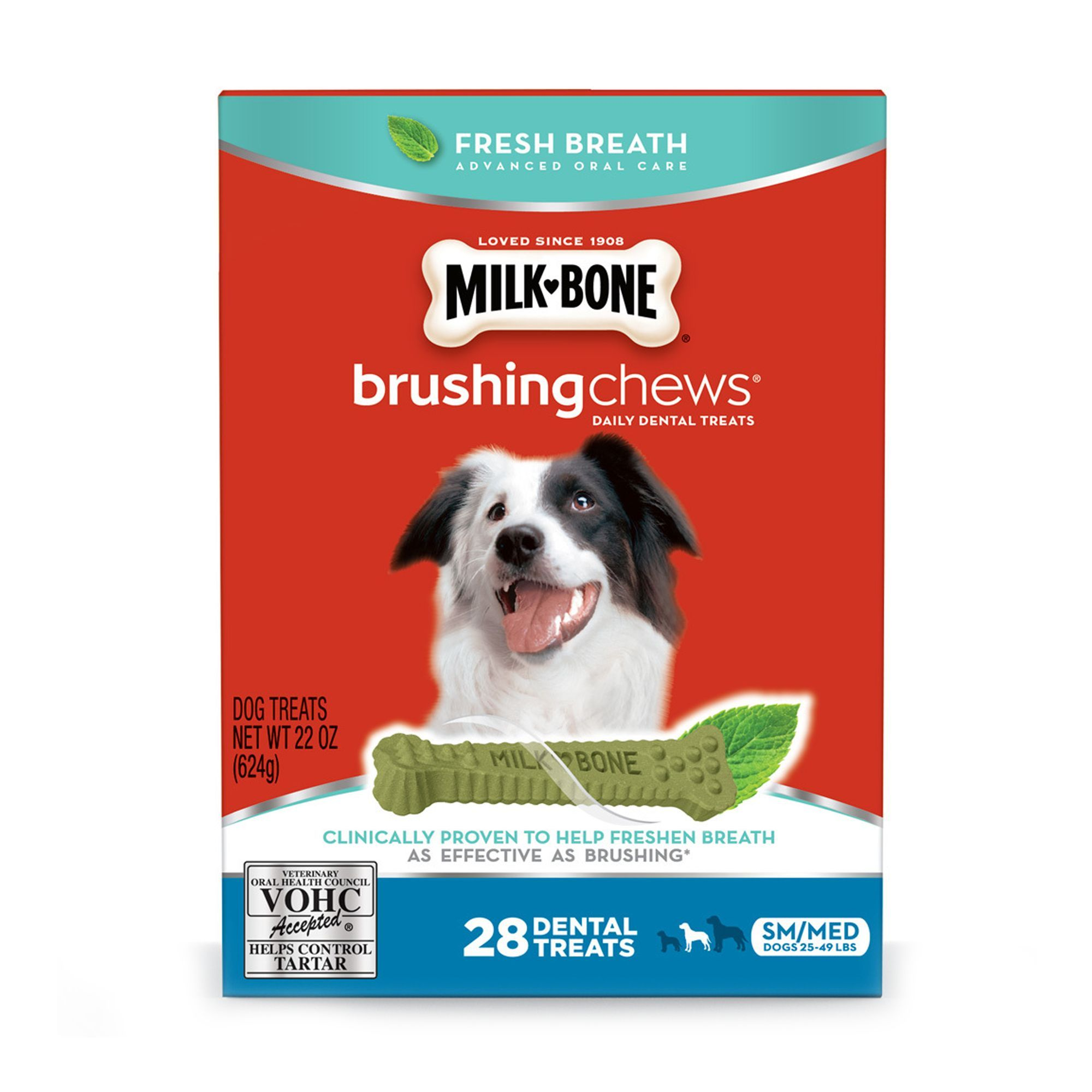 Milk Bone Brushing Chews Dental Dog Treat Small Medium Dog