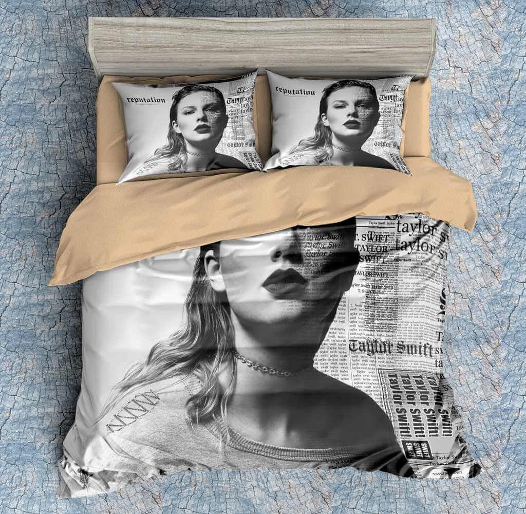 3D Customize Taylor Swift Bedding Set Duvet Cover Set