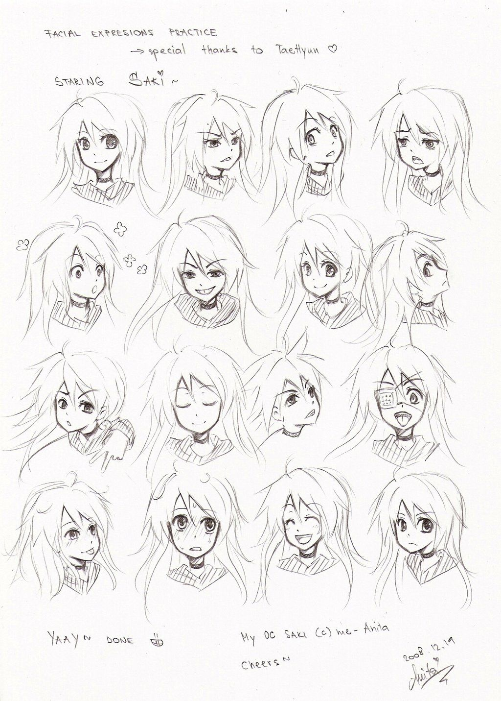 facial expressions practice by