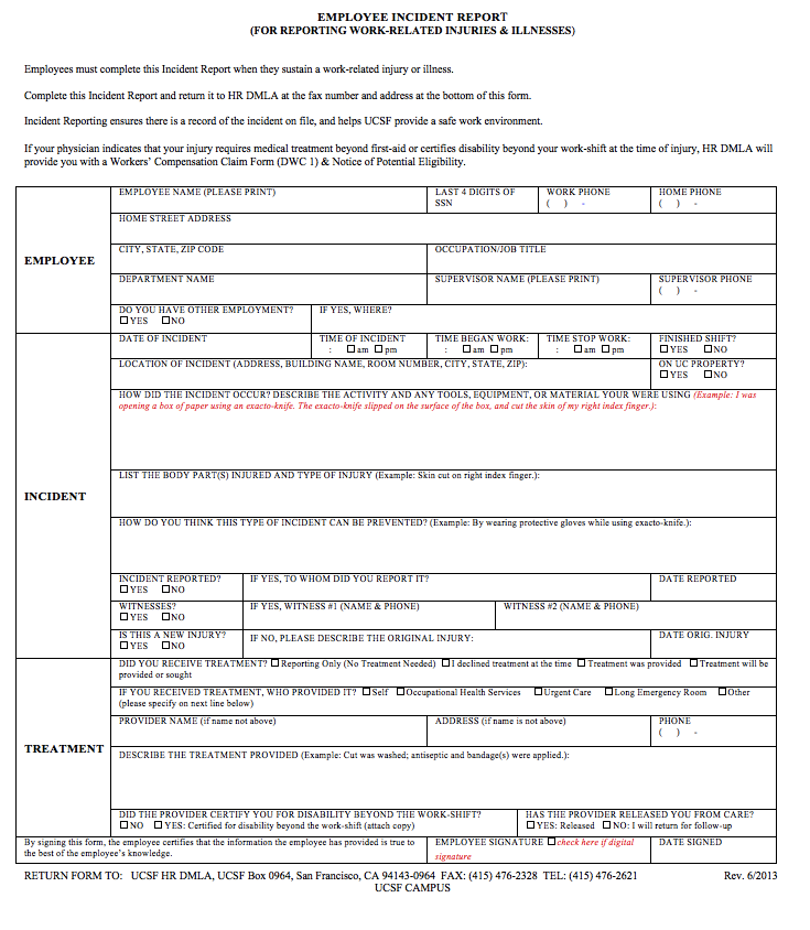Free Incident Report Template resumesdesignfree – Free Incident Report Template