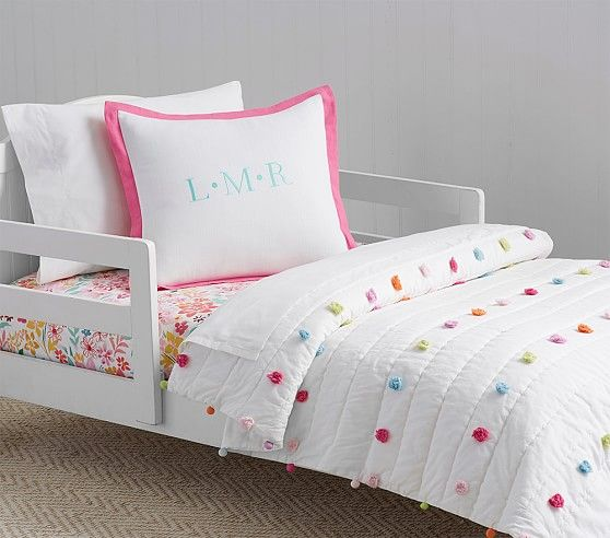 Bright Pom Pom Toddler Bedding Pottery Barn Kids Baby