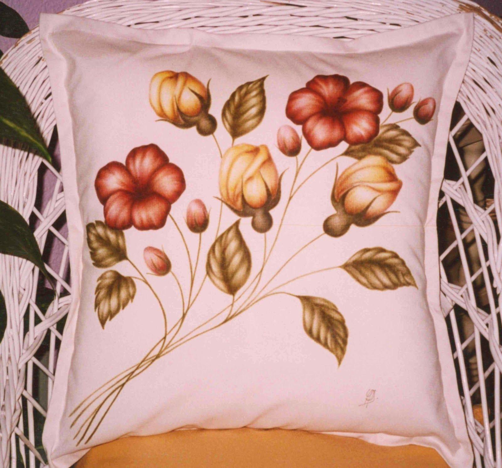 Artesanía y Diseño Adagio : Cojines pintados: Calas, Lirios ...