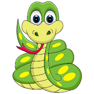 Baby Snake Animal Doodles Happy Cartoon Happy Paintings
