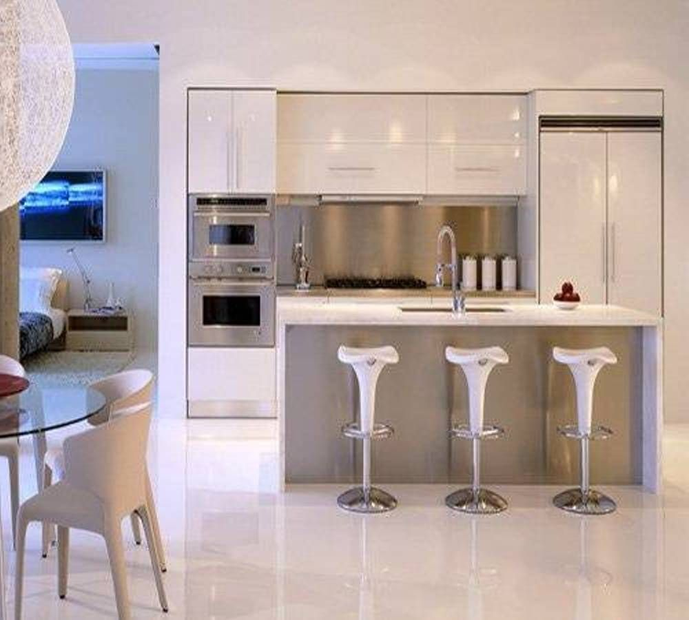 Apartment Kitchen Design Ideas Part - 26: White Modern Top Contemporary Kitchen Designs 2012 For Apartment
