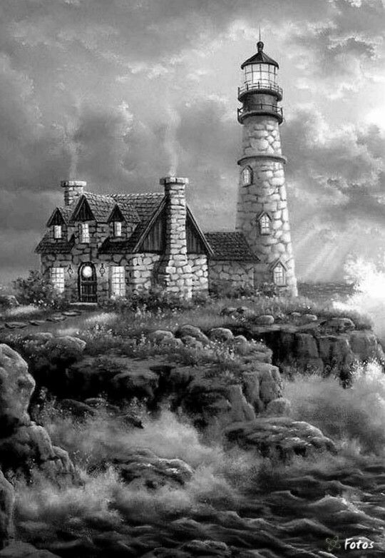 Pin By Michele Spencer On Grayscale Lighthouse