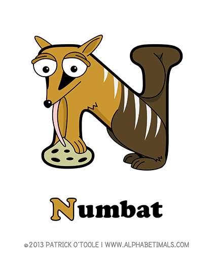 Numbat Alphabetimals Make Learning The Abc S Easier And More Fun Http Www Alphabetimals Com Abc Learning Games Animal Letters Animal Dictionary