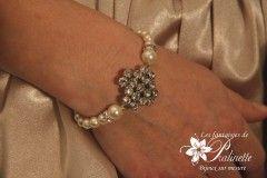 Bracelet de mariage style vintage rétro,