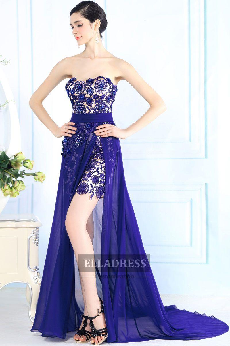 Blue Strapless Floor length Prom Dresses-199 | Prom Dresses | Pinterest