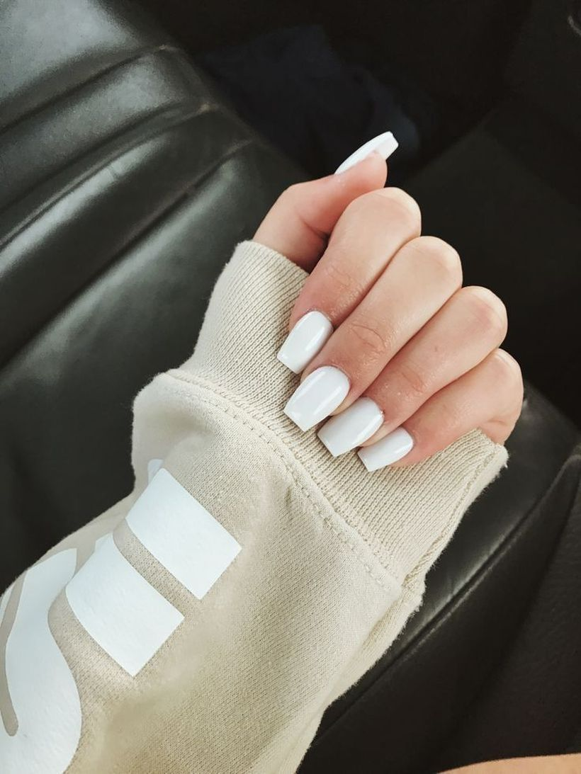 43 Relaxing Graduation Nail Design Ideas You Must Try White Acrylic Nails Graduation Nails Basic Nails
