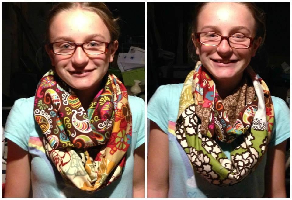 Fat quarter infinity scarf/cowl